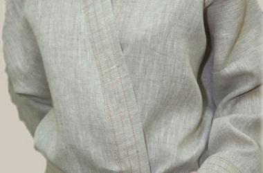 Женский льняной халат