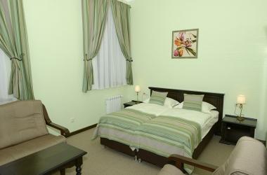 Гостиничные шторы, комплект для спальни зеленых цветов