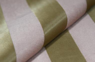 Ткань блэкаут полосатая зеленого оттенка