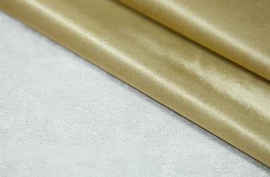 Ткань блэкаут зотого цвета