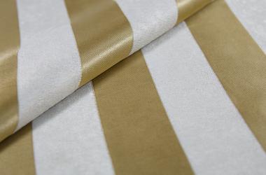 Ткань блэкаут полосатая золотистого цвета