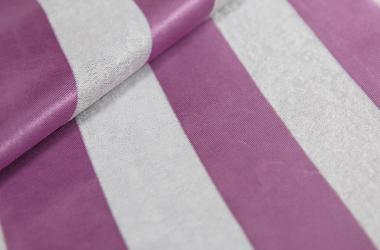 Ткань блэкаут полосатая сиреневого цвета