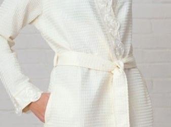 Банный женский вафельный халат