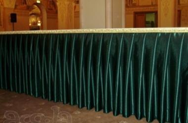 Юбка на стол темно зеленая