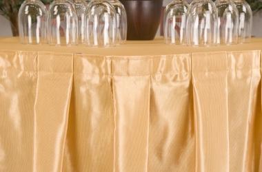Юбка на стол золотистая