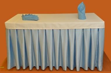 Юбка на стол голубая