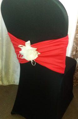 Стейч чехол. Цвет - черный. Размер - 1. Декор - полоса маковая и нежная роза .